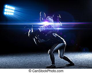 ação, jogadores, futebol americano