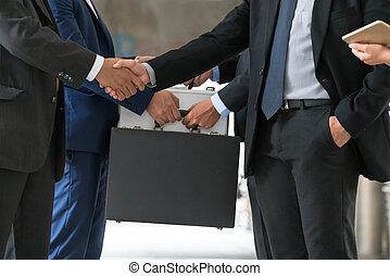ação, reunião, acordo, pessoas negócio