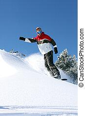ação, snowboarder
