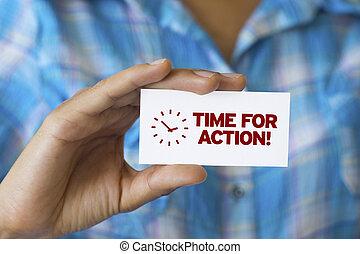 ação, tempo