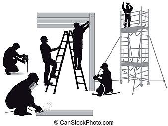 aço, construção,  locksmiths