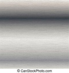 aço, escovado, superfície
