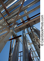 aço,  Industrial, Oleodutos, zona