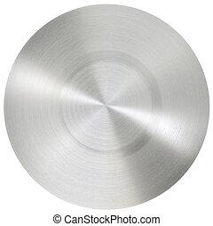 aço, inoxidável, círculo, superfície
