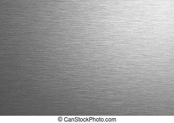 aço, inoxidável, fundo, textura