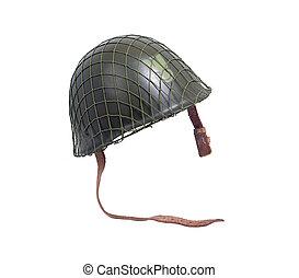 aço, militar, capacete