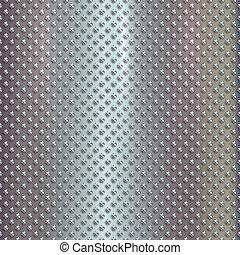 aço, vetorial, prata, fundo, grille