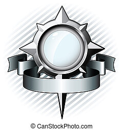 aço, vidro, forma, windrose