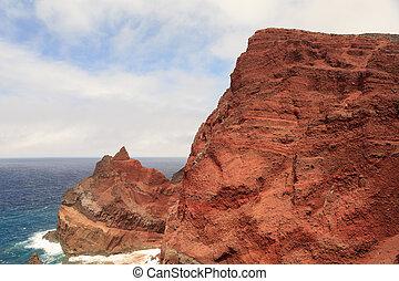 açores, faial, volcanique, île, rochers