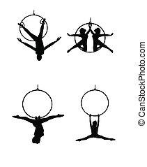 aéreo, bailarines
