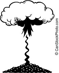 aéreo, explosión nuclear