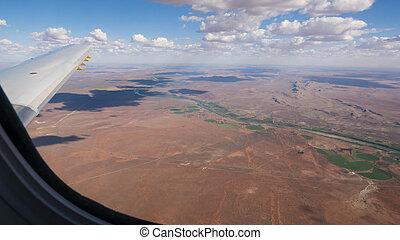 aérien, afrique, sud, vue