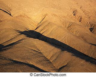 aérien, de, desert.