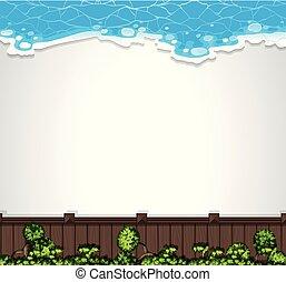 aérien, jardin, gabarit, vue