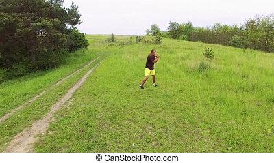 aérien, nature, sportif, 4k, exercice, vue
