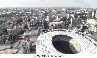 aérien, olimpiyskiy, ukraine., stade, kyiv