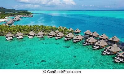 aérien, overwater, récif corail, recours plage, vacances, ...
