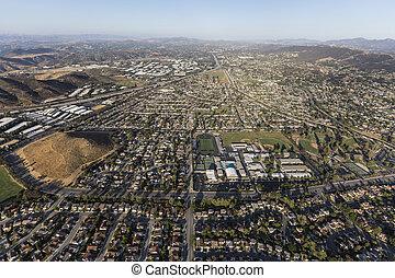 aérien, parc, newbury, californie