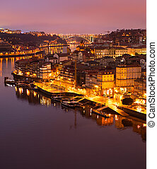 aérien, porto, portugal, vue