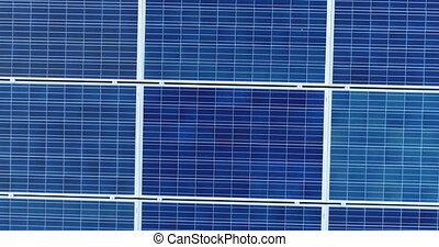 aérien, villa, toit, panneaux solaires, vue