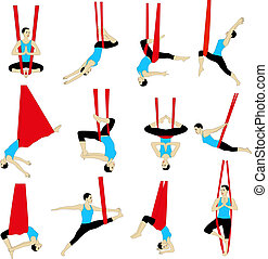 aérien, yoga