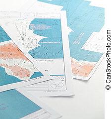 aéronautique, cartes