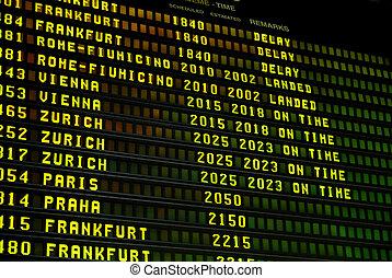 aéroport, exposer