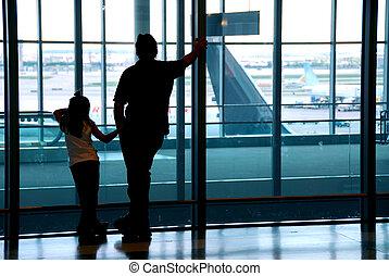aéroport, famille