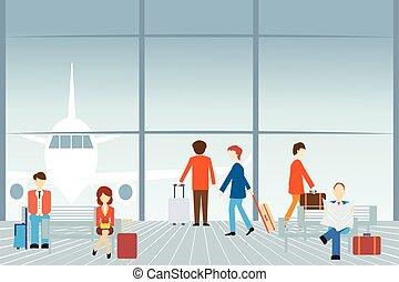 aéroport., gens