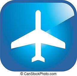 aéroport, icône