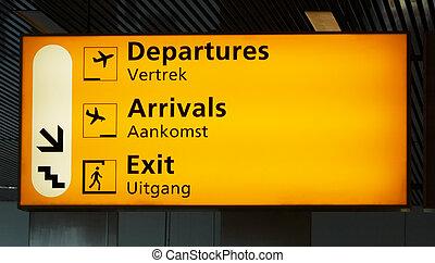 aéroport, signe