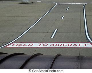 aéroport, signes, sur, terrestre