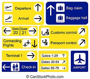 aéroport, signes