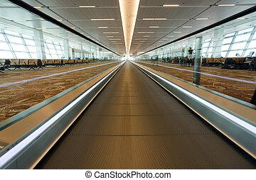 aéroport, tapis roulant
