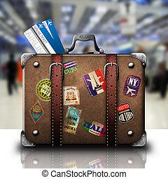 aéroport, valise