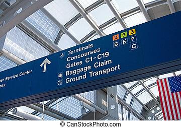 aéroport, voyageur
