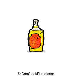 aérosol, dessin animé, boîte