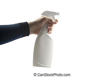 aërosol, pomp, sprayer, antiseptisch, automaat