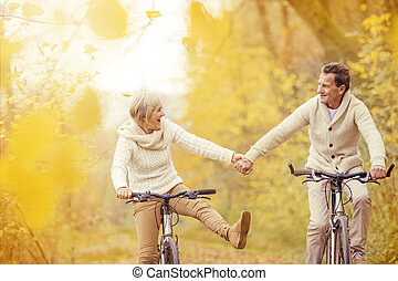 aînés actifs, équitation vélo