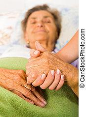 aînés, confiance, amour, soin