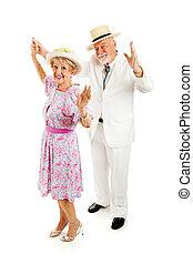 aînés, danse, méridional, ensemble