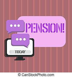 aînés, gagner, concept, mot, business, texte, après, personnes agées, écriture, pension., retraite, years., revenu, sauve