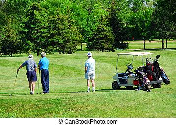 aînés, jouer golf