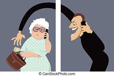 aînés, téléphone, scam, cibles
