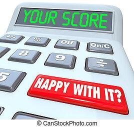 añadir, calculadora, raya, resultado, total, su, números