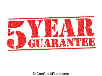 año, 5, garantía