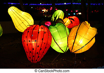 año, linterna, carnaval, chino, nuevo