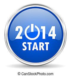 año nuevo, 2014, icono