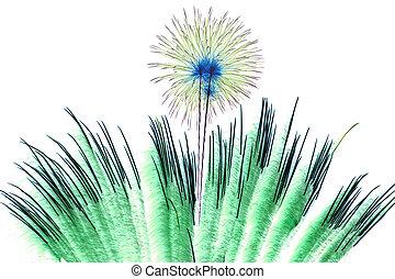 año nuevo, 2015, con, fuegos artificiales