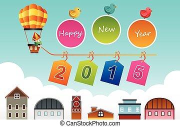 año nuevo, 2015, señal